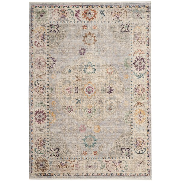 Soren Light Gray/Cream Area Rug by Bungalow Rose