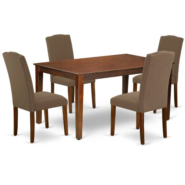 Marylou 5 Piece Solid Wood Dining Set by Alcott Hill Alcott Hill