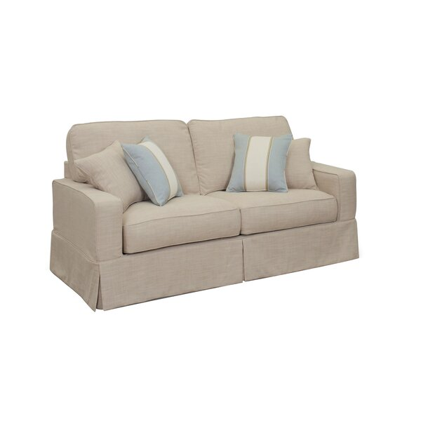 Glenhill Box Cushion Loveseat Slipcover By Rosecliff Heights