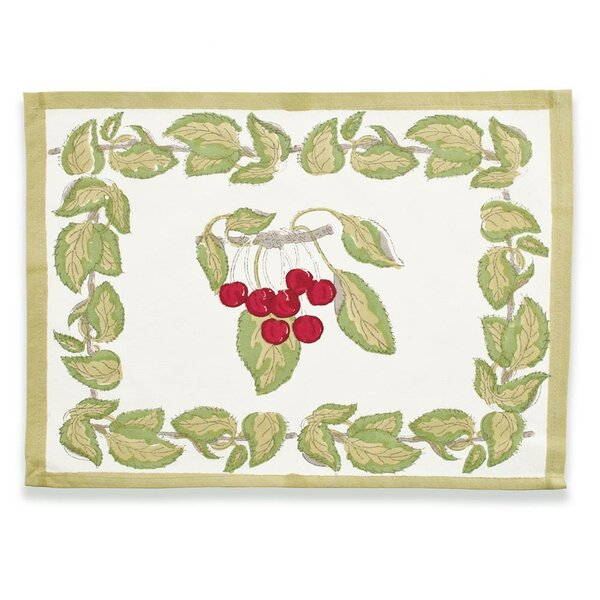 Cherry Placemat (Set of 6) by Couleur Nature