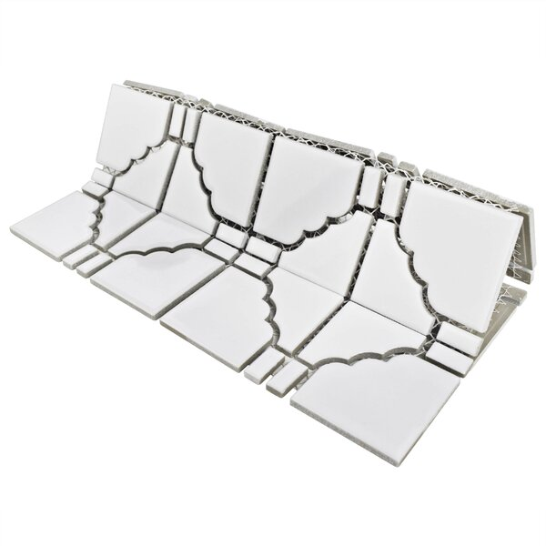 Kansai Porcelain Mosaic Tile in Glossy White by EliteTile