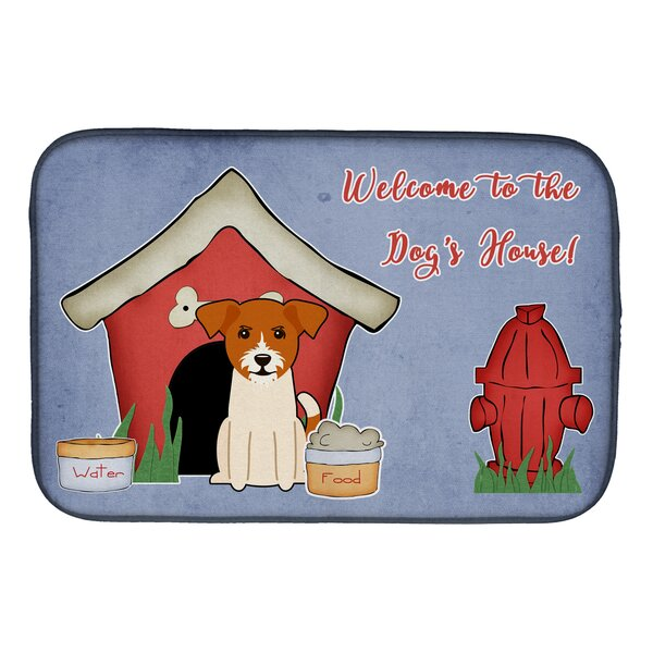Dog House Jack Russell Terrier Dish Drying Mat by Caroline's Treasures