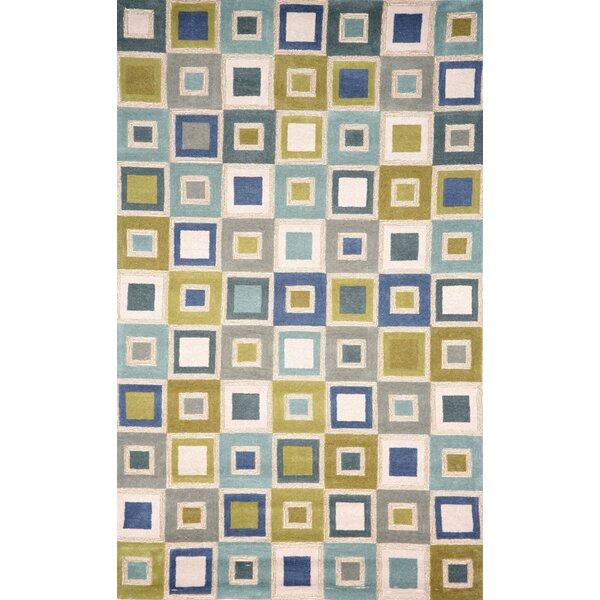 Nelda Big Squares Indoor/Outdoor Rug by Ebern Designs