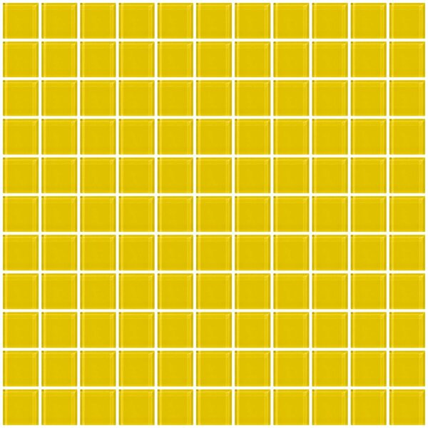 1 x 1 Glass Mosaic Tile in Bright Yellow by Susan Jablon