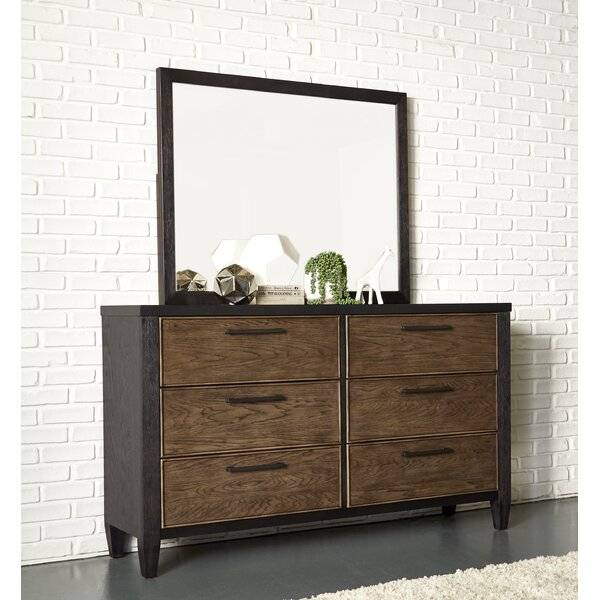 Lymingt 6 Drawer Double Dresser with Mirror by Brayden Studio