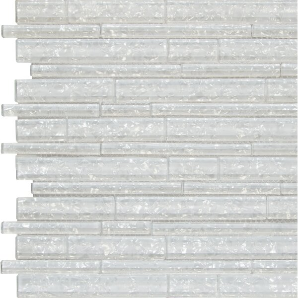 Akoya Random Sized Glass Mosaic Tile in White by MSI