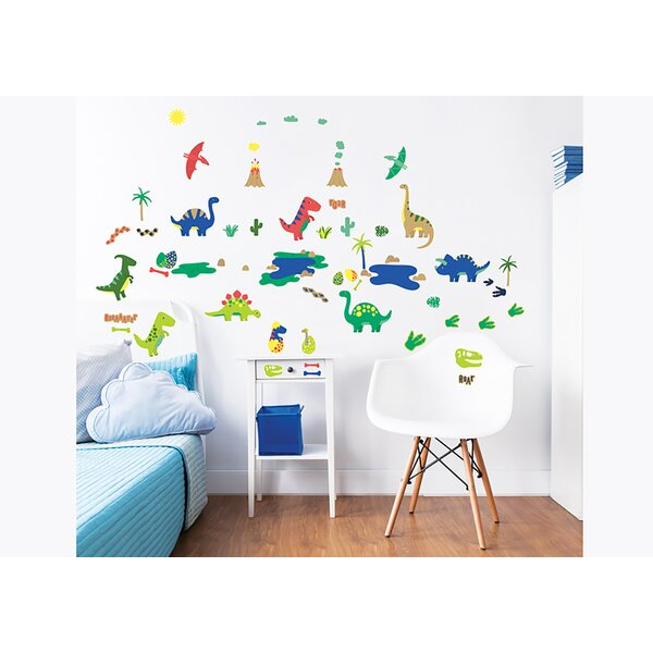 Dinosaur 58 Piece Wall Decal Set by WallPops!