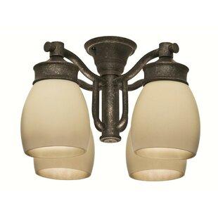 Deals Outdoor 4-Light Branched Ceiling Fan Light Kit By Casablanca Fan