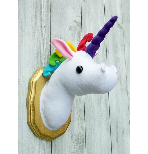 Unicorn Faux Taxidermy 3D Wall Décor by Zooguu