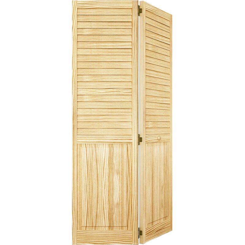 Plantation Louver Panel Wood Bi-Fold Door  sc 1 st  Wayfair & KIBY Plantation Louver Panel Wood Bi-Fold Door u0026 Reviews | Wayfair