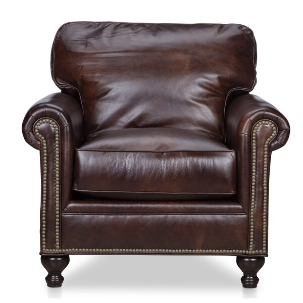 Mielke Genuine Leather Club Chair By Darby Home Co