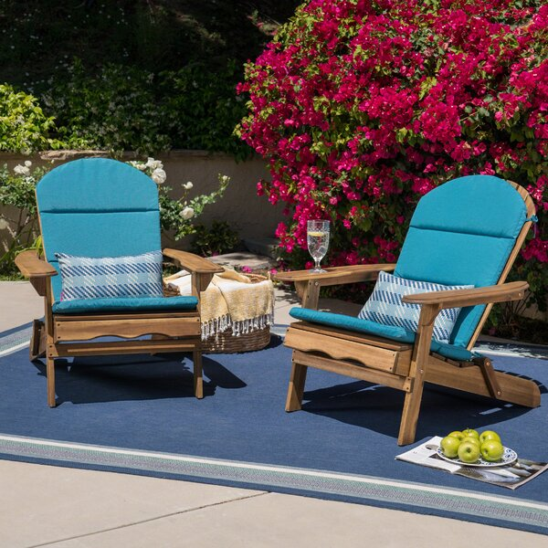 Laffey Solid Wood Folding Adirondack Chair (Set of 2) by Loon Peak Loon Peak