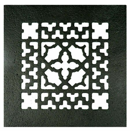 6 x 6 Iron Grille in Black by Acorn