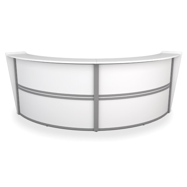 Marque Series Double-Unit Curved Reception Station by OFM