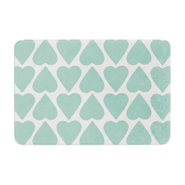 Up and Down Hearts by Project M Bath Mat by East Urban Home