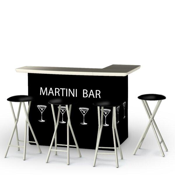 Potawatomi 5-Piece Bar Set by Winston Porter