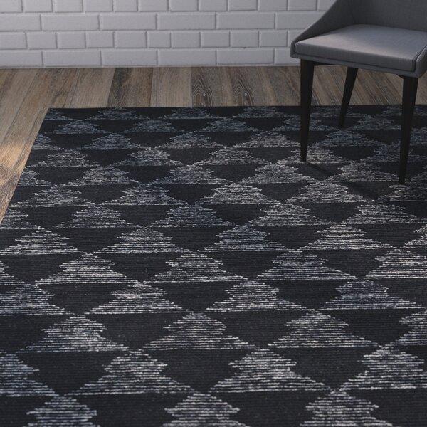 Cilegon Handmade Black Area Rug by Wrought Studio