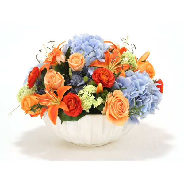 Mixed Centerpiece in Decorative Vase by Distinctive Designs