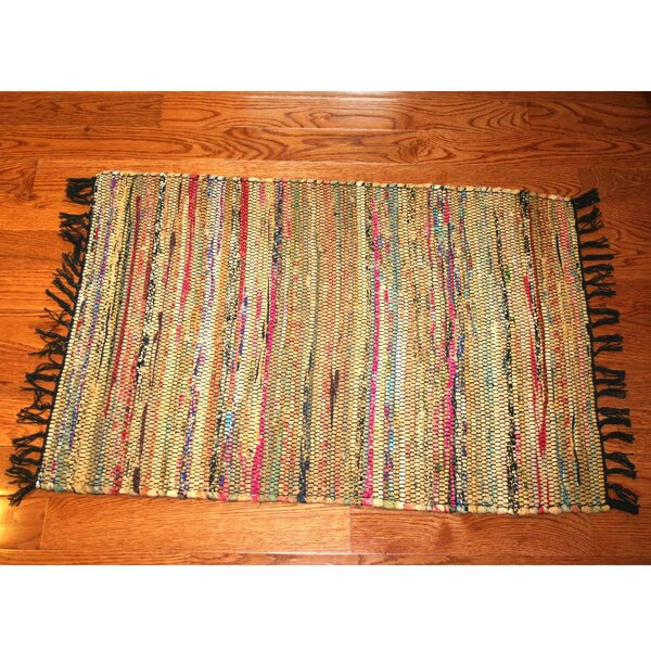 One-of-a-Kind Linmore Over-Dyed Hand-Woven Tan Area Rug by Bay Isle Home