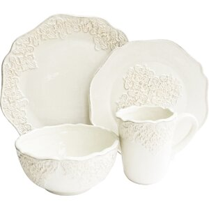Bianca Medallion 16 Piece Dinnerware Set, Service for 4