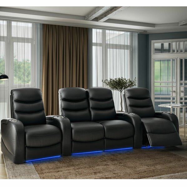 Stealth HR Series Curved Home Theater Loveseat (Row Of 4) By Winston Porter