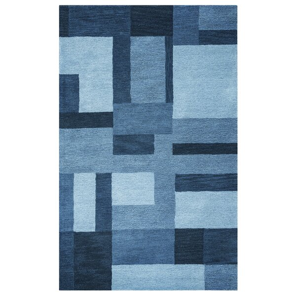 Guinea Hand-Tufted Blue Area Rug by Meridian Rugmakers