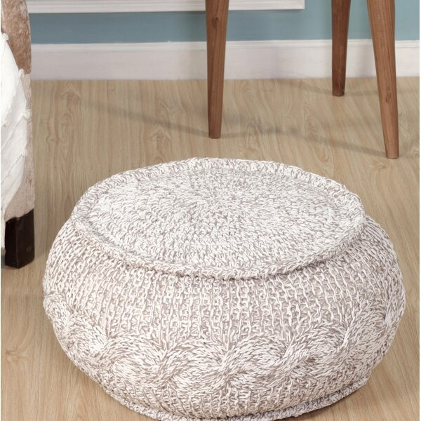 Hawley Melange Cable Knit Pouf by August Grove