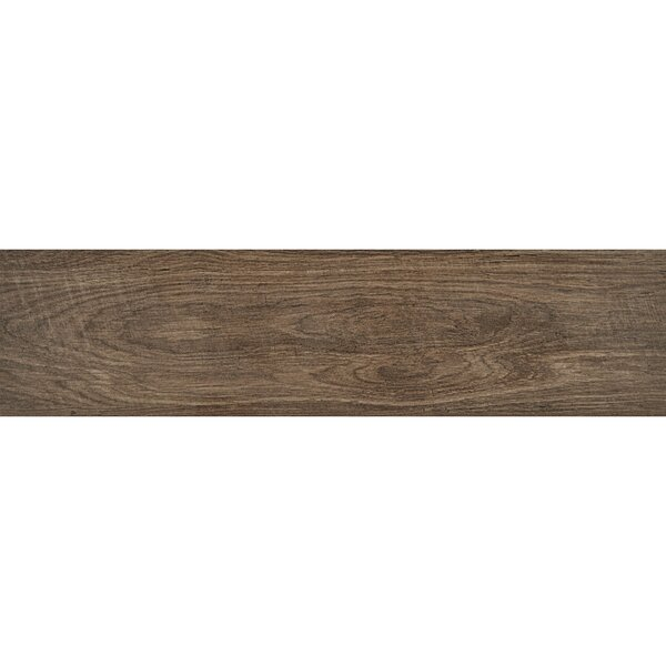 Modern Visual 6 x 24 Porcelain Wood Look Tile in Dark Brown by Itona Tile