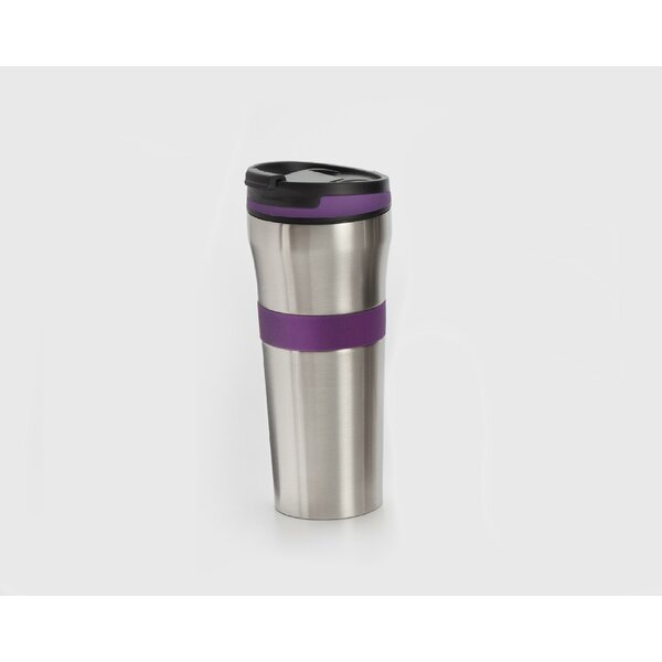 Double Walled Stainless Steel Coffee Tumbler with Silicone Grip by Cook Pro