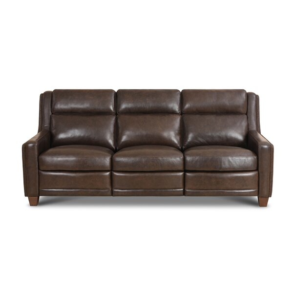 Kinzie Leather Reclining Sofa By Red Barrel Studio