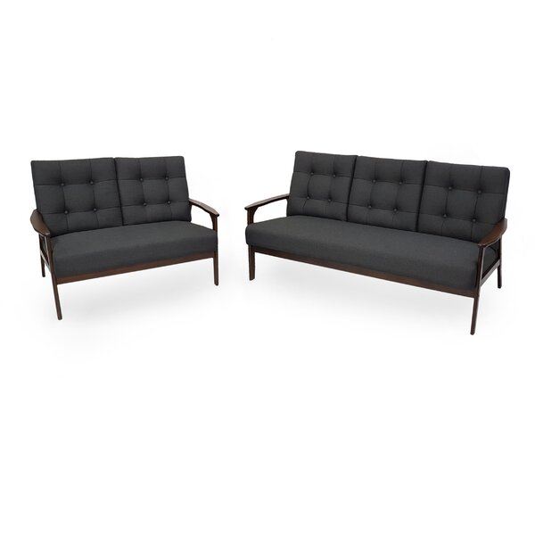 Hillyard Mid Century 5 Seater 3 Piece Living Room Set by George Oliver
