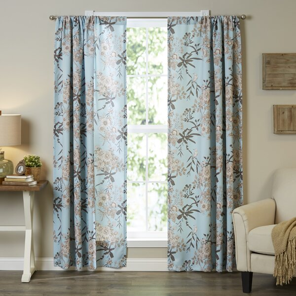 Chapin Nature/Floral Room Darkening Curtain Panel Pair (Set of 2) by Birch Lane™