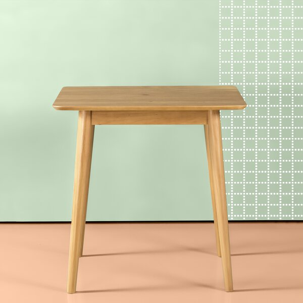 Bednarz Mid Century Wood Solid Wood Dining Table by George Oliver