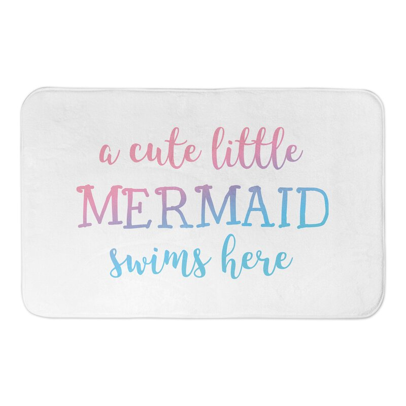 Jarret Cute Little Mermaid Bath Rug