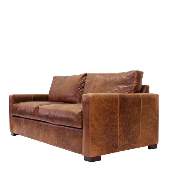 Expert Reviews Soren Leather Sofa by 17 Stories by 17 Stories