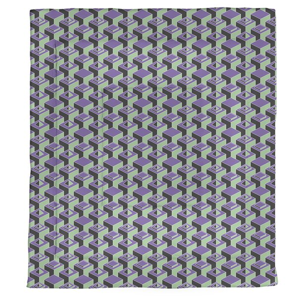 Jordao Two Color Dark Skyscrapers Pattern Microfiber Single Reversible Comforter