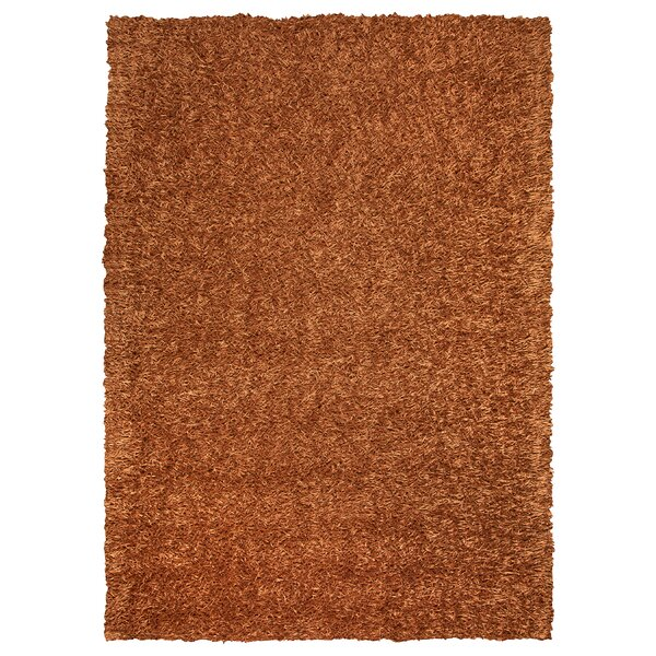 Hand-Tufted Orange Area Rug by The Conestoga Trading Co.