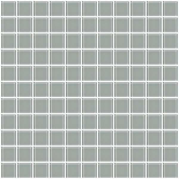 1 Gray Glass Tile (Set of 2) by Susan Jablon