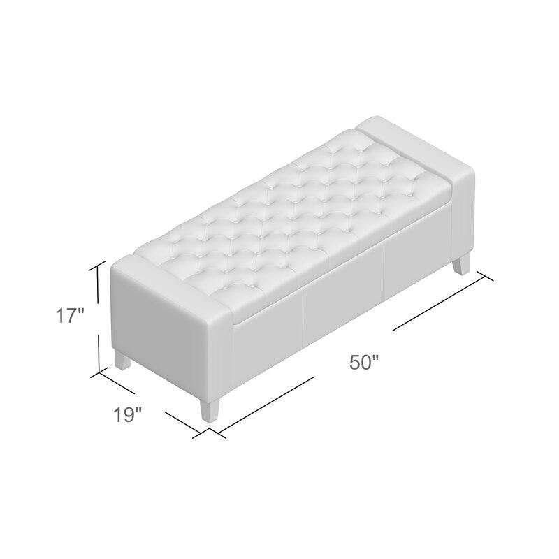 Varian Upholstered Storage Bedroom Bench Birchlane: Ilchester Upholstered Storage Bench & Reviews