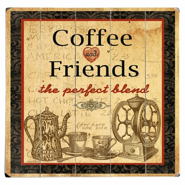 Coffee & Friends Graphic Art Print on Wood by Artehouse LLC