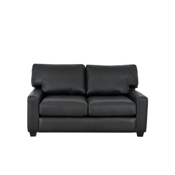 Kenmore Studio Leather Loveseat By Westland And Birch