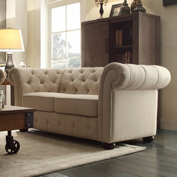 Maia Button Tufted Chesterfield Loveseat by Willa Arlo Interiors