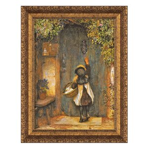 The Visitor by Arthur Hopkins Framed Painting Print by Design Toscano