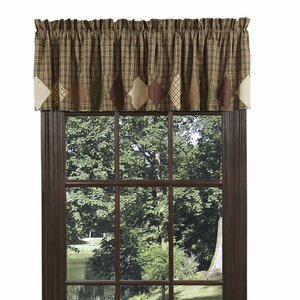 Vernonburg with Block Border Lined Curtain Valance