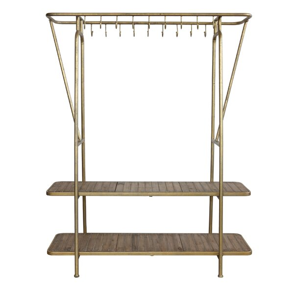 Daleville 18 Hook Coat Rack by 17 Stories