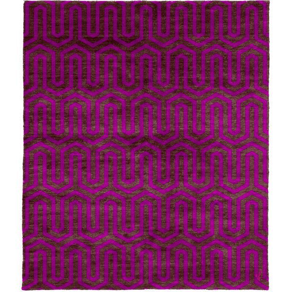 One-of-a-Kind Vennie Hand-Knotted Traditional Style Pink 6' x 9' Wool Area Rug