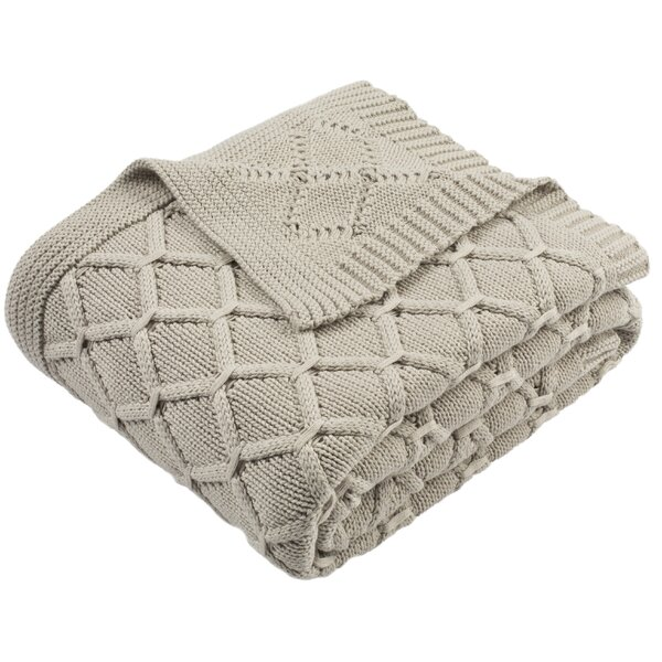 Waddell Knit Cotton Throw by Alcott Hill
