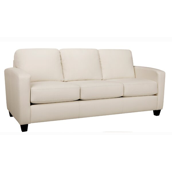 Excellent Reviews Woodby Leather Sofa by Latitude Run by Latitude Run