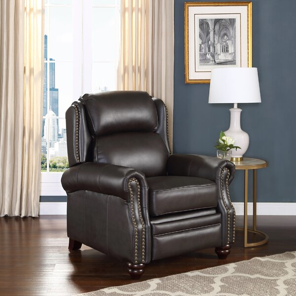 Ahadpour Leather Manual Recliner by Darby Home Co Darby Home Co