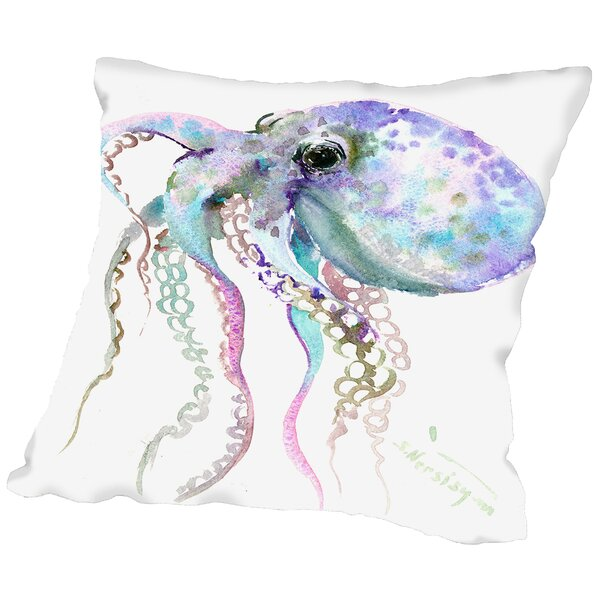Octopus Throw Pillow by East Urban Home